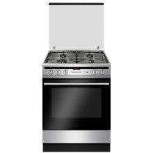 Free Standing Gas Cooker with Glass Lid