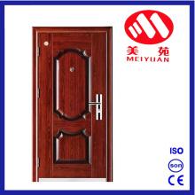 Puerta exterior de seguridad de seguridad de acero para casa de apartamento