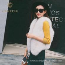 Accept custom order real women fur vest