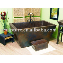 antique copper style bathtub for hotel/home