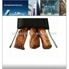 Câble d'ascenseur à grue plate, conducteur en cuivre, gaine isolée en PVC, câble d'ascenseur