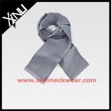 Gris impreso oblongo Alibaba bufandas de seda