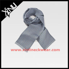 Gray Printed Oblong Alibaba Scarves in Silk