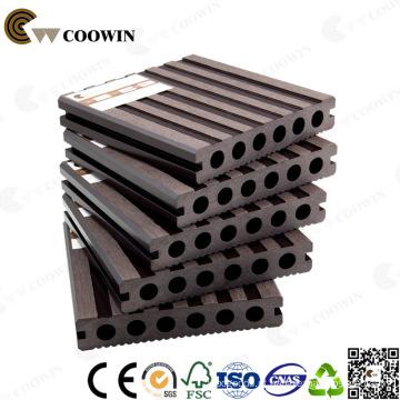 WPC Café Fsc / Ce / GV / ISO oco Composite Decking Plástico Piso 140X25mm