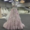 Boho lace up pink v-neck princess backless women dress BB070