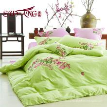 ropa de cama barata de algodón establece 40S bordado