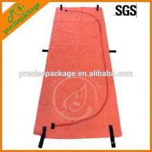 Bolso de cadáveres de PVC resistente de color naranja con asas