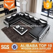 SUMENG romania style corner wooden sofa set designs