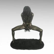 Nackte Figur Statue Dame Tanz Bronze Skulptur TPE-679