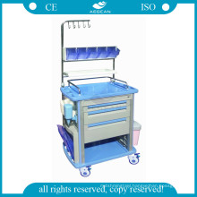 AG-NT003A1 Luxurious ABS material movable medical nursing trolley