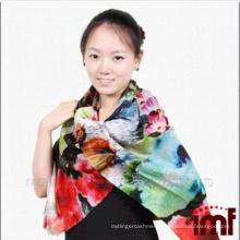 Colourful Fashion Design Printed Cashmere Feel Wool Scarf