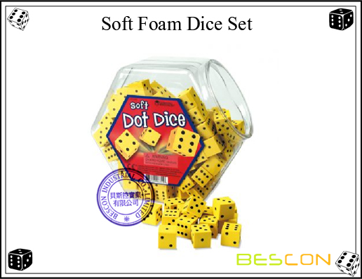 Soft Foam Dice Set