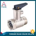 Válvula de segurança de bronze TMOK com válvula de alívio de segurança de pressão de alça de plástico para a caldeira de água