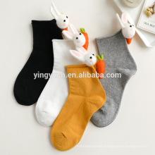 Hot Sale Love stereo rabbit radish 3d animal quality socks
