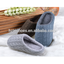 2016 Women or men cable knit slipper closed toe cashmere indoor shoes winter