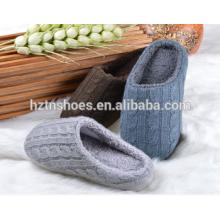 2016 Женщины или мужчины кабель вязать тапочки закрыты ноги кашемир Крытый обувь зимой