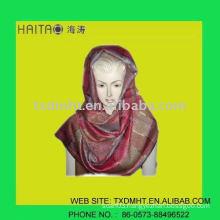 fashion golden thread shawl for trendy ladies