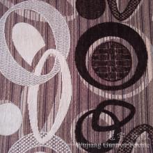 O fio da tela do poliéster do teste padrão do círculo tingiu o Chenille