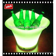 Cubo de cerveza de plástico LED colorido de gran tamaño