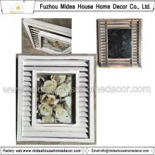 Antique en bois blanc cadre photo en gros