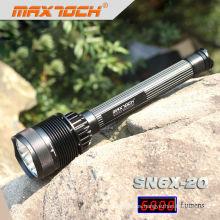Maxtoch SN6X-20 7 * CREE XML T6 de alta potencia recargable LED más brillante Flashlihgt