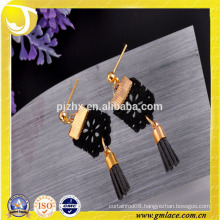 2016 Fashion and New Design Black Metal Tassel for Earring