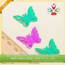Adesivos de logotipo personalizado metal borboleta para artesanato decoração DIY