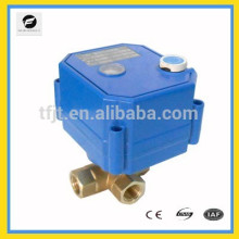 DC12V 3-way motorized ball valve with manual override for Irrigation equipment,drinking water equipment,solar water heaters