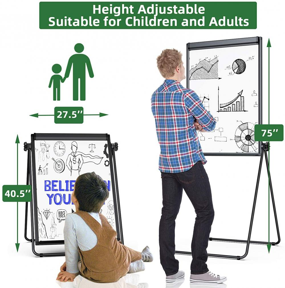 Adjustable Height Flipchart Easel