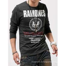 Benutzerdefinierte gedruckt Mode Baumwolle Großhandel Männer Langarm T-Shirt