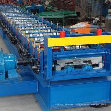 Panel de piso de acero estructural Rollo de panel que forma la máquina