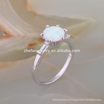 925 Sterling Silver White fogo AAA anel de opala para homens anel de prata com pedra de opala 925 Sterling Silver branco fogo AAA anel de opala para homens anel de prata com pedra de opala