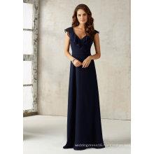 V Neck Chiffon Bridesmaid Evening Gowns