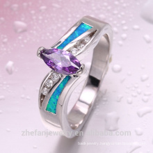 blue fire opal rings for women with best quality and low price