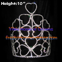 10inch Shamrock Clover Crowns Crystal Big Crowns