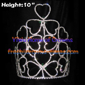 10 pouces Shamrock Clover Crowns Crystal Big Crowns