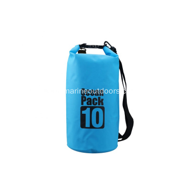 500D PVC Durable 10L Waterproof Transparent Dry Bag