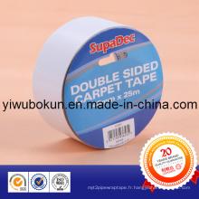 Bandes translucides à double face certifiées ISO SGS (support tissulaire enduit d'adhésif acrylique)