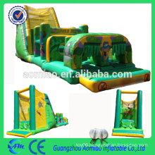 Giant inflatable turbo rush obstacle course game PVC good quality inflatable sports obstacle course