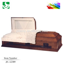 Chinese factory mahogany wooden casket beds