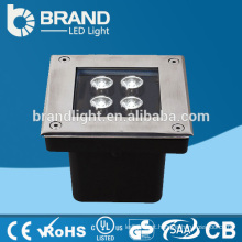 IP65 4X1W quadrado luz LED subterrânea, DMX512 luz subterrânea LED RGB