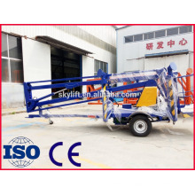 moveable aerial working diesel engine towable telescopic boom lift platform