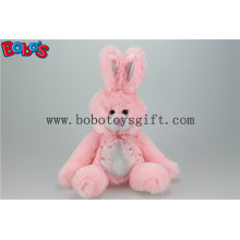 Pink Stuffed Animal Bunny Toy with Long Arm and Big Feet Bos1150