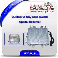 Récepteur optique Auto-Switch 2 voies à l'extérieur avec AGC Csp-1011