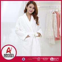 China factory high quality 100% cotton waffle bathrobe