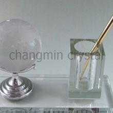 элегантный офис кристалл перо держать мяч для гольфа комплект