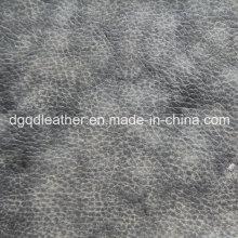 Cuero de PU impreso en color especial de dos tonos (QDL-52086)