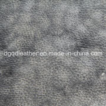 Couleur spéciale bicolore imprimé en cuir PU (QDL-52086)