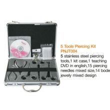 Professionelle Top Hochwertige Körper 5 Werkzeug Piercing Kit