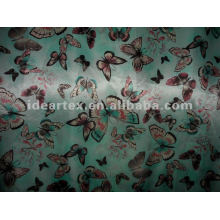 Satin Fabric Fake silk Butterfly Printed for Lady Dress